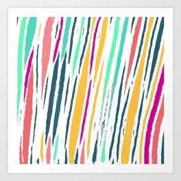 Modern Candy Stripes Art Print