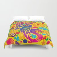 60s Duvet Covers featuring BQ - Yas4Yas 60s Throwback by lessdanthree