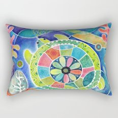 Sea Turtle Abstract Rectangular Pillow