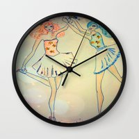 witch Wall Clocks featuring witch by Elide G