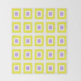 Tribute to mondrian 8- piet,geomtric,geomtrical,abstraction,de  stijl , composition. Throw Blanket