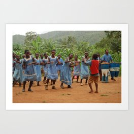 Welcoming Ceremony: Nkuv, Cameroon  Art Print