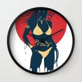 She wants to dance - Vintage Derby version. Wall Clock