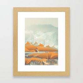 Mother Earth/Desert Patina Framed Art Print