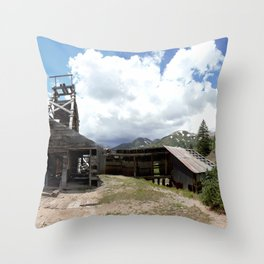 Exploring the Longfellow Mine of the Gold Rush - A Series, No. 1of 9 Throw Pillow