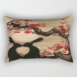 Rabbits In Love Rectangular Pillow