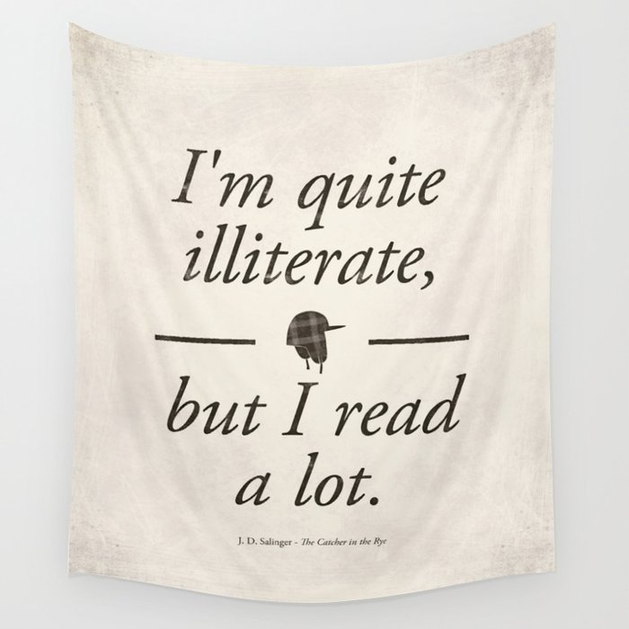 Salingers The Catcher In The Rye Literary Quote Art Bookish Gift