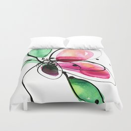 Ecstasy Bloom No. 2 by Kathy Morton Stanion Duvet Cover