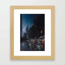 Blue Manhattan Framed Art Print