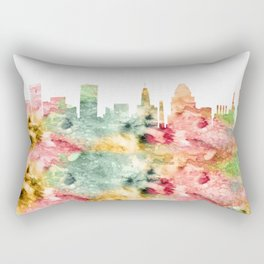 Baltimore Maryland Skyline Rectangular Pillow