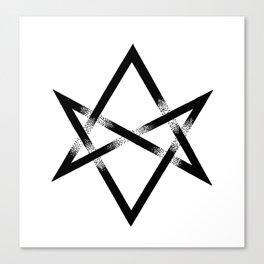 Unicursal Hexagram Canvas Print