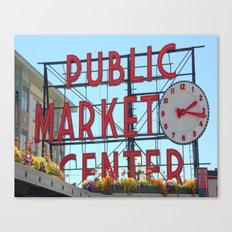 The Market Canvas Print
