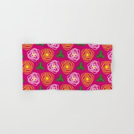 Bright pink floral Hand & Bath Towel