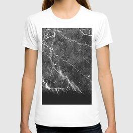 Black Gray Marble #1 #decor #art #society6 T-shirt
