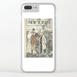 Vintage New Yorker Cover - Circa 1938 Clear iPhone Case