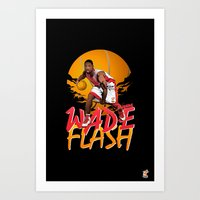 nba Art Prints featuring NBA Legends: Dwyane Wade by Akyanyme