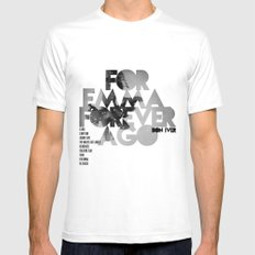 For Emma, Forever Ago - Bon Iver / Cover Art LP MEDIUM White Mens Fitted Tee