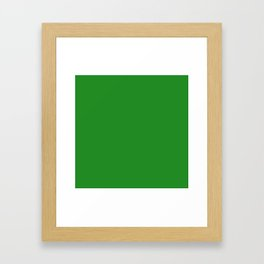 (Forest Green) Framed Art Print