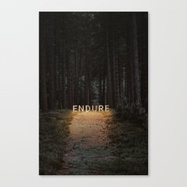 endure. Canvas Print