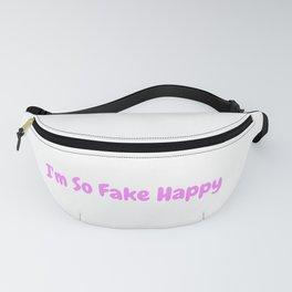 Fake Happy Fanny Pack