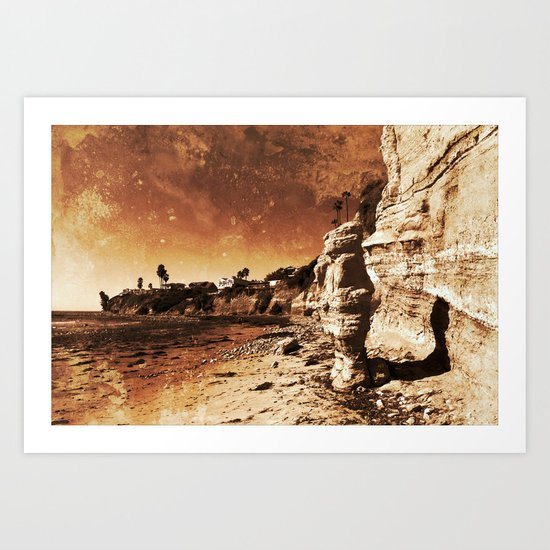 Awaiting the unavoidable erosion of Time Art Print