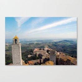 Tuscan Landscape - San Gimignano Canvas Print