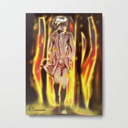 Hie Fire Metal Print