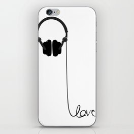 for the love of music iPhone Skin