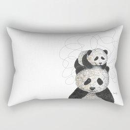 Panda Family Rectangular Pillow