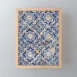 Portuguese glazed tiles Framed Mini Art Print