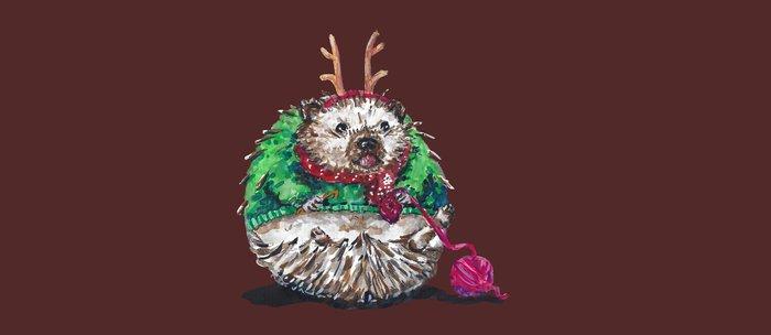 Holiday Sweater Crochet Critter Coffee Mug