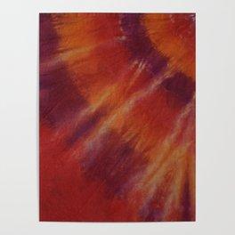 Tie Dye Red Orange Poster