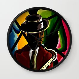 Player With Candy Dancers Wall Clock