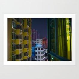 Paper Cut Out City Art Print