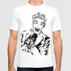 Joker On You Mens Fitted Tee LARGE White