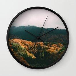 Autumn blooming Wall Clock