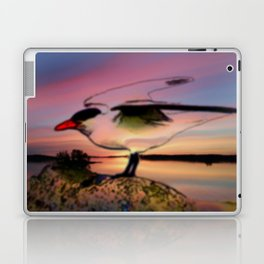 Sunset Take-off - Gull Painted with Sunset Colors Laptop & iPad Skin