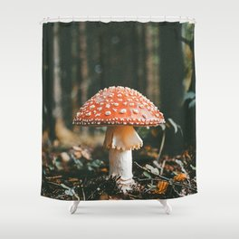 Forest Mushroom Shower Curtain