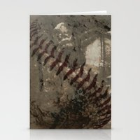 league Stationery Cards featuring Big League Dreams by Eric Rasmussen