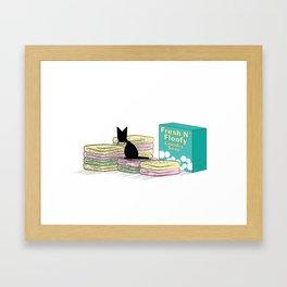 Natural Fibers (The Naughty Kitten) Framed Art Print