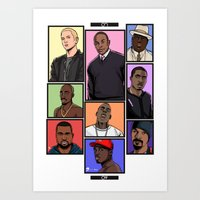 hiphop Art Prints featuring HipHop Legends by Akyanyme