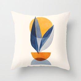 Sunshine Stack / Mid Century Abstract Illustration Throw Pillow