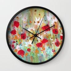 A summer meadow Wall Clock