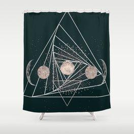 Moon Matrix Shower Curtain