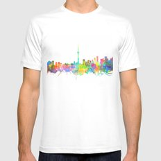 toronto city skyline Mens Fitted Tee White MEDIUM