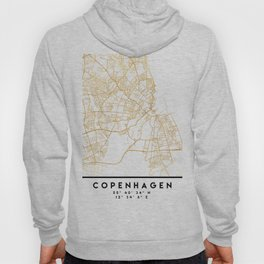 COPENHAGEN DENMARK CITY STREET MAP ART Hoody