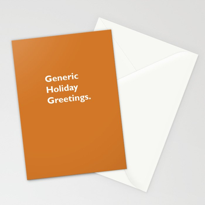 Generic Holiday Greetings Stationery Cards
