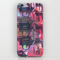 guns iPhone & iPod Skins featuring Guns by Print Mafia