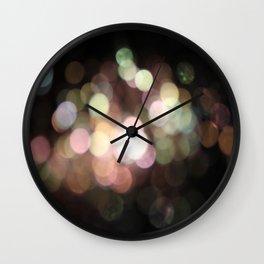 Bubbly Bokeh Wall Clock
