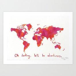 Oh, Darling Art Print
